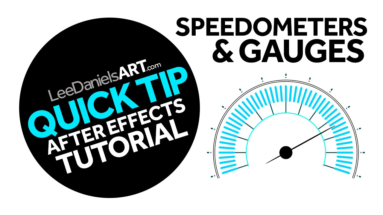 After Effects Tutorial | QUICK TIP | Speedometers & Gauges