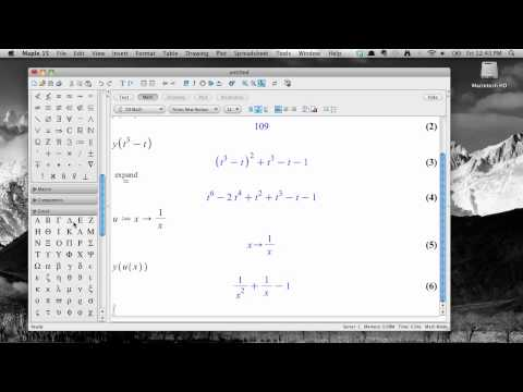 Working with functions in Maple 15