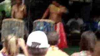 Funny Japan Guy at Polynesian Cultural Center Playing Drums