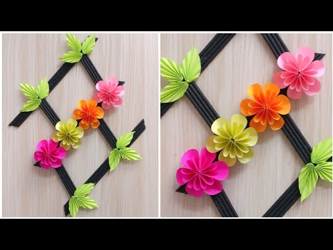 paper-flower-wall-hanging-|-diy-|-paper-crafts-|-diy-wall-hanging-|-wall-decor