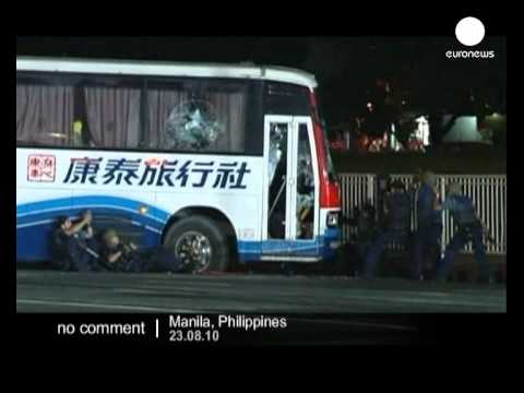 Tourists die in Manila bus shoot-out - no comment
