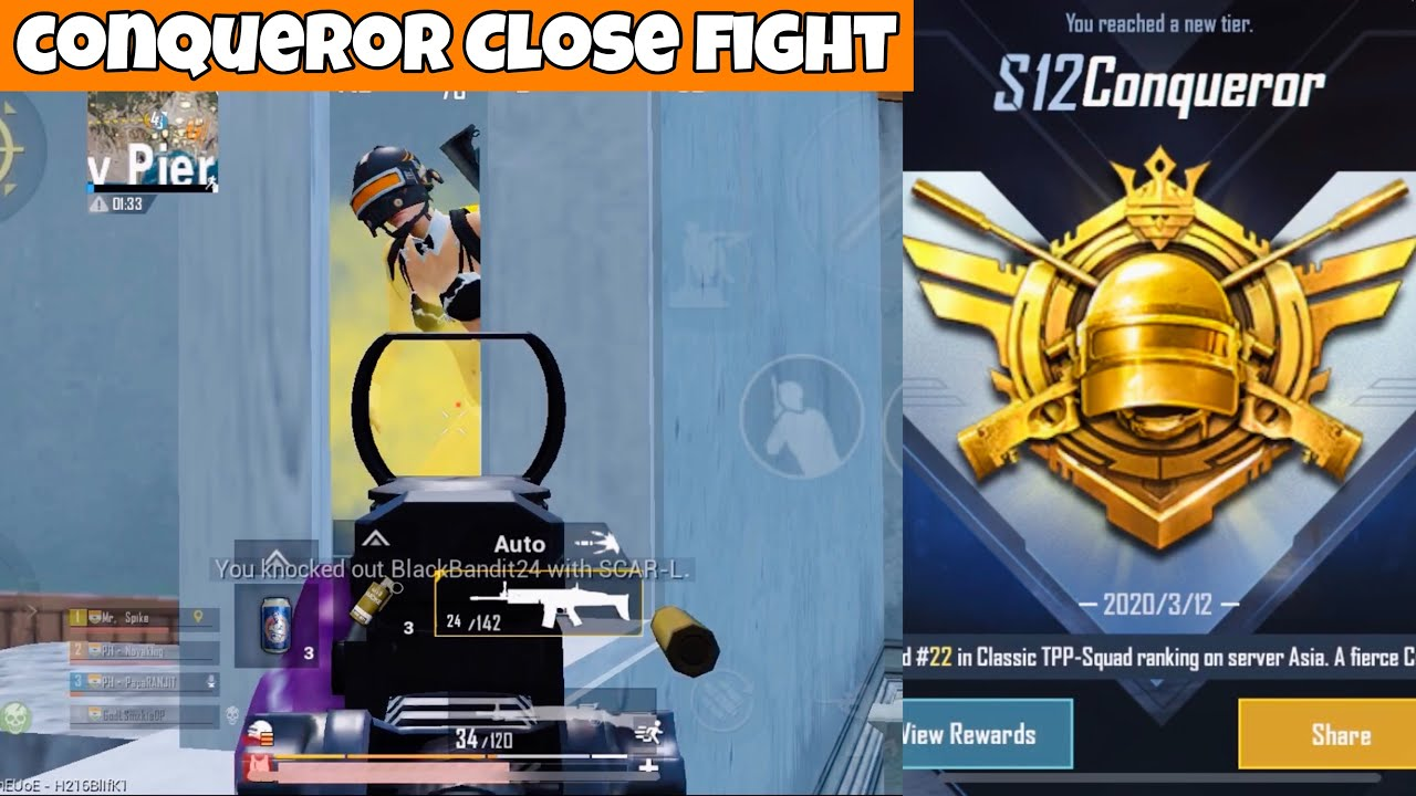 3 Squads Rushed Us In Conqueror Tier!   PUBG Mobile   Mr Spike