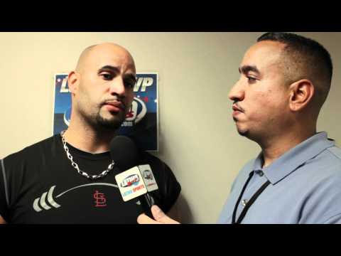 Gemini Keez, IN THE PEN, with 2010 Latino Sports National League MVP, Albert Pujols. Travel Video