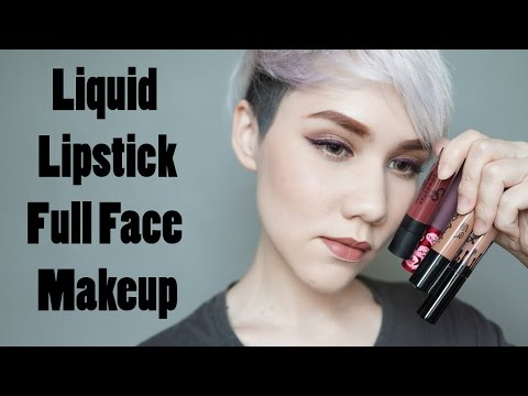 Pearl InStyle : Liquid Lipstick Full Face Makeup Look