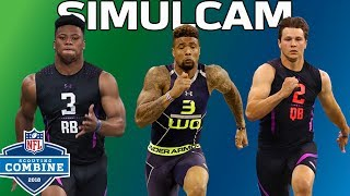 40-Yard Dash Simulcam: OBJ vs. DJ Clark, Barkley vs. Zeke & More! | NFL Combine Highlights