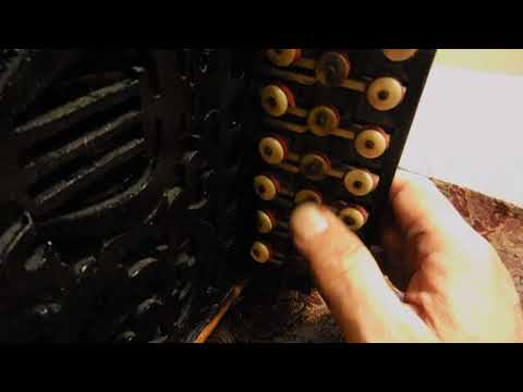 Antique all Wooden33 button Accordion Designed & Build by Max Bolete, 1800's