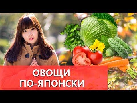 Овощи по-японски. Название овощей в японском языке. Уроки японского для начинающих. Еда по-японски.