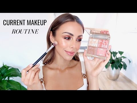 MY CURRENT MAKEUP ROUTINE & FAVORITES | Annie Jaffrey