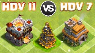 Clash of Clans ~ Troll HDV 11 contre HDV 7 avec les Héros + Nouveau Sapin de Noël !