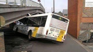 CRAZY BUS FAIL COMPILATION, STUPID DRIVING FAILS 2017