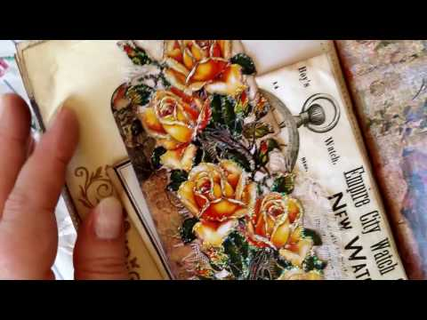 Victorian Woman Vintage Junk Journal - GDT for ARTYMaze