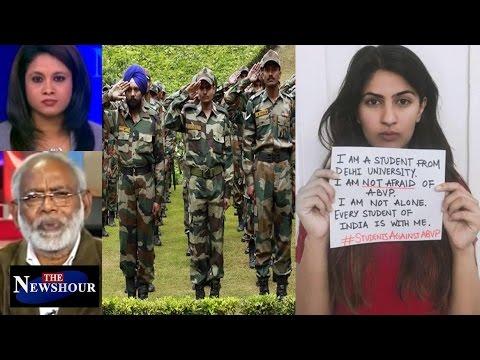 """Has Gurmehar Kaur """"Insulted"""" Army Men Sacrifices?: The Newshour Debate (28th Feb)"""