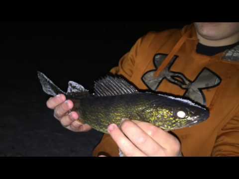 Northern Wisconsin Ice Fishing  Merrill WI 1-27-16