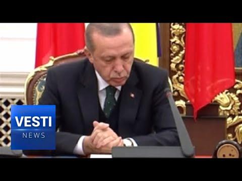 Poroshenko Puts Erdogan To Sleep At Press Conference in Kiev