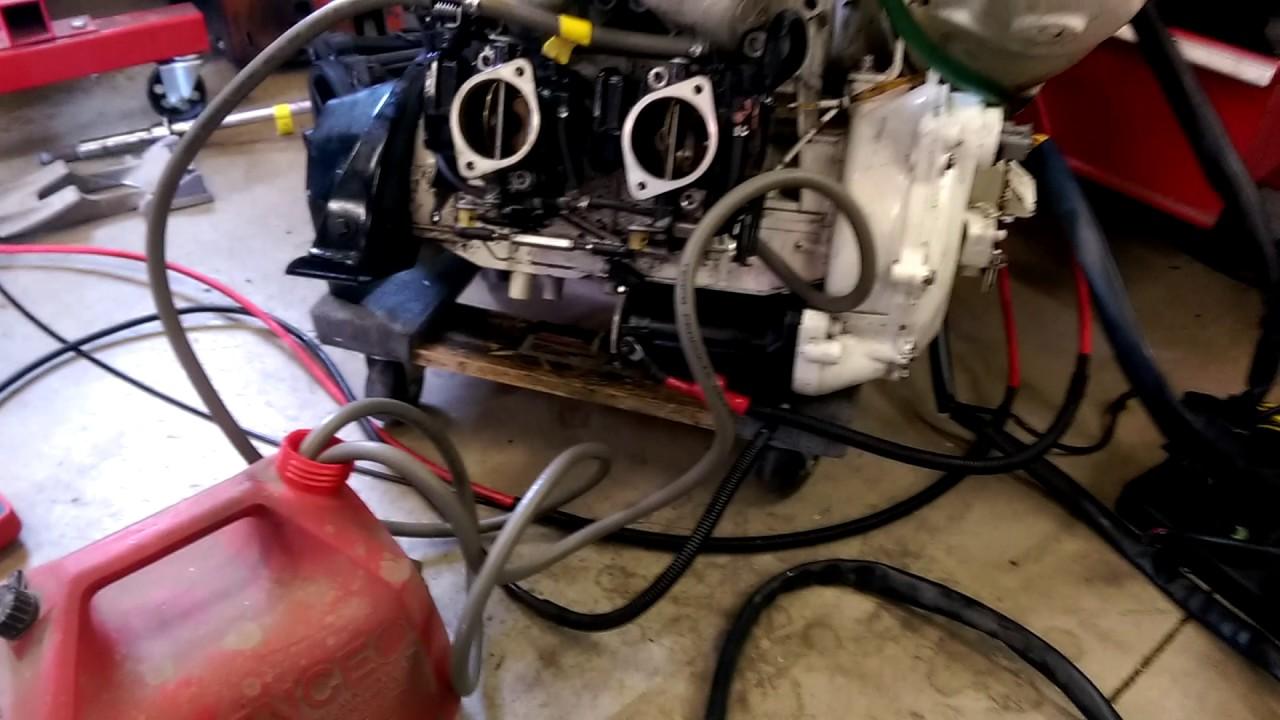 1997 seadoo xp 787 engine startup on the garage floor [ 1280 x 720 Pixel ]