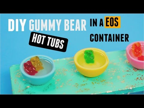 DIY GUMMY BEAR EOS HOT TUBS with Resin- Back to school supplies storage container