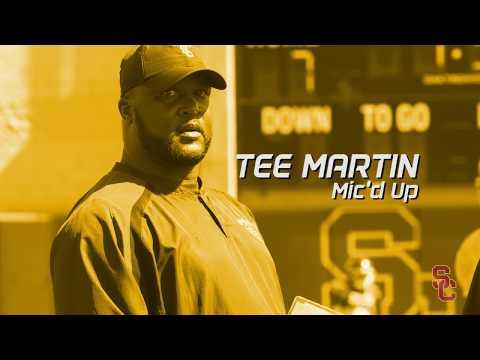 USC Football - OC Tee Martin Mic