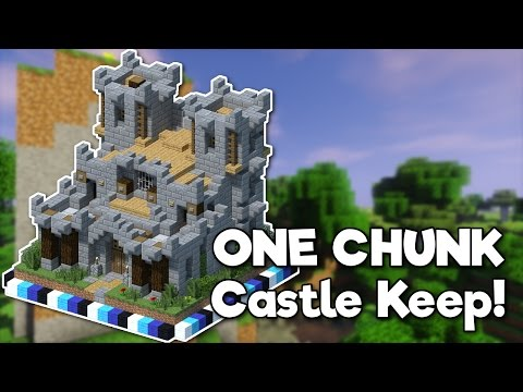 Minecraft: Castle Keep In ONE CHUNK! [Tutorial]