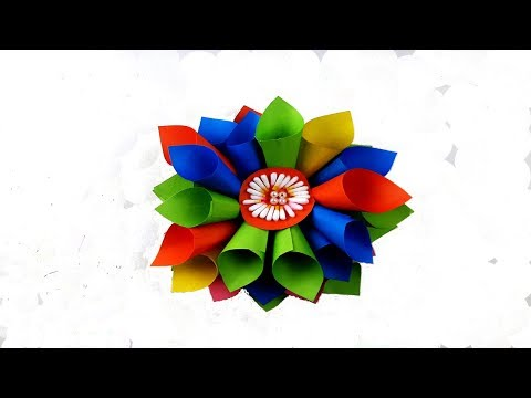 Easy DIY Home Decor Ideas | How to make paper a origami simple flowers | Paper flowers for beginners