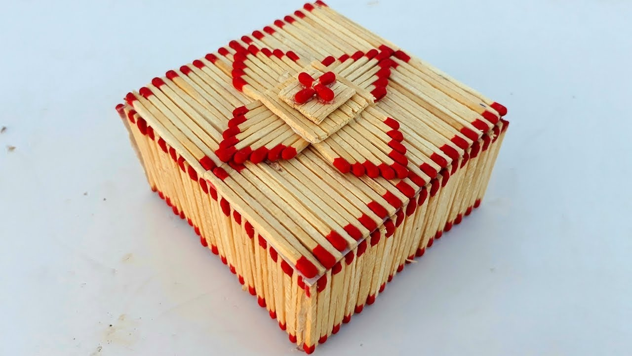 How To Make Matchstick Jewelry Box Diy Easy Jewelry Box