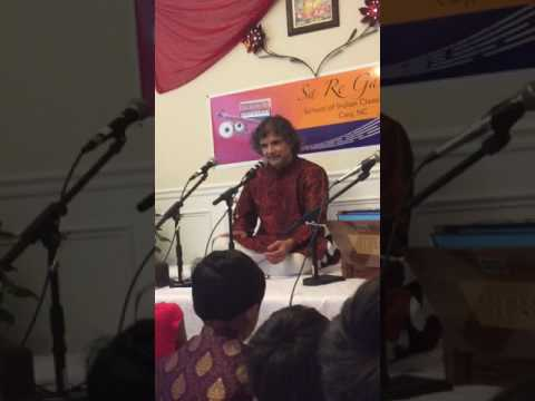 Workshop clip 1 - Pt. Ramdas Palsule at SaReGaMa School of Indian Classical Music, Cary NC
