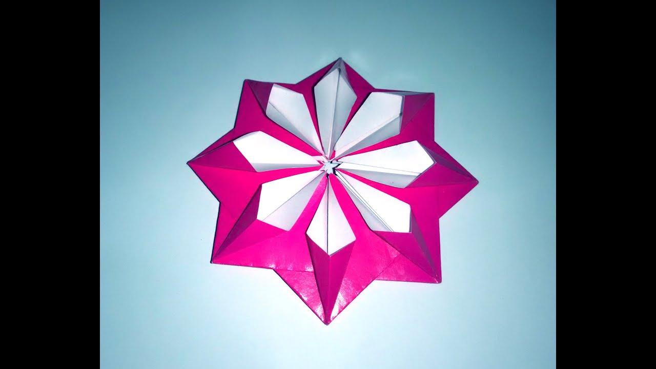 Very Easy Paper Flower 3d Paper Flower Decor Origami Modular