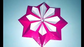 Very Easy Paper Flower - 3d Paper Flower Decor. Origami Modular Flower