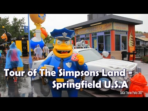 [HD] The Simpsons Land Tour - Springfield U.S.A - Universal Studios Florida