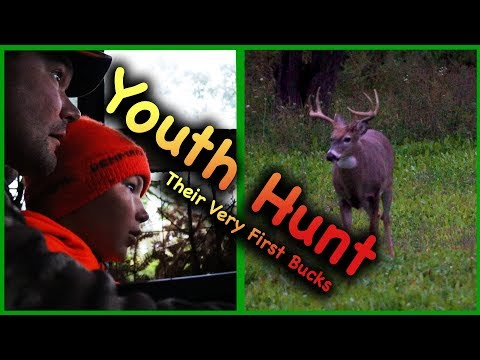 Youth Hunter Harvest BIG Buck In Food Plot (first Deer)