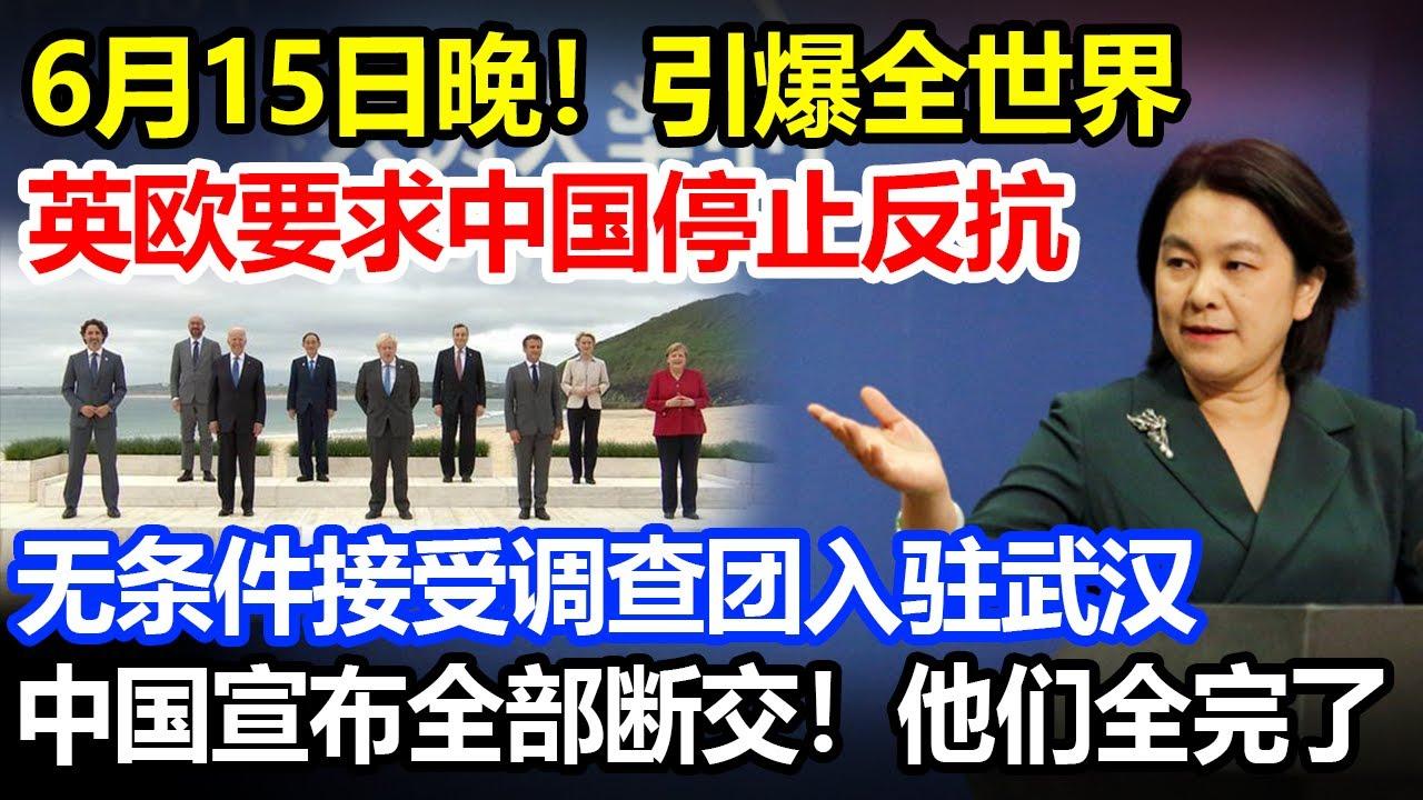 6月15日英欧要求中国停止反抗,无条件接受美国调查团,话音刚落,中国一举震动全球,他们全完了