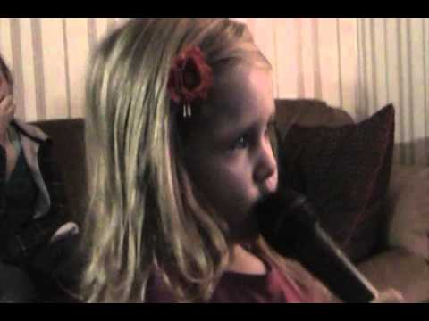 Toddler GIRL (2) sings song WELCOME HOME by REHAB