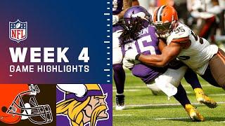 Browns vs. Vikings Week 4 Highlights | NFL 2021