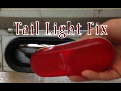 how to replace end of a trailer lights