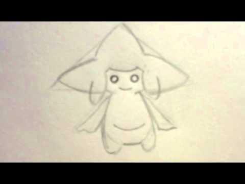 pokemon zeichnen jirachi in wenigen schritten youtube. Black Bedroom Furniture Sets. Home Design Ideas