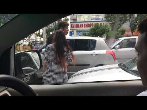 Road rage in Kolkata India