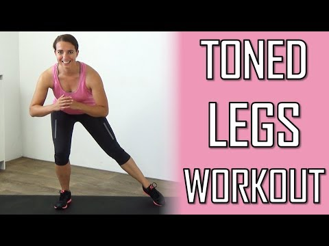 10 Minute Toned Legs Workout for Women – Leg and Thighs Toning Exercises – At Home