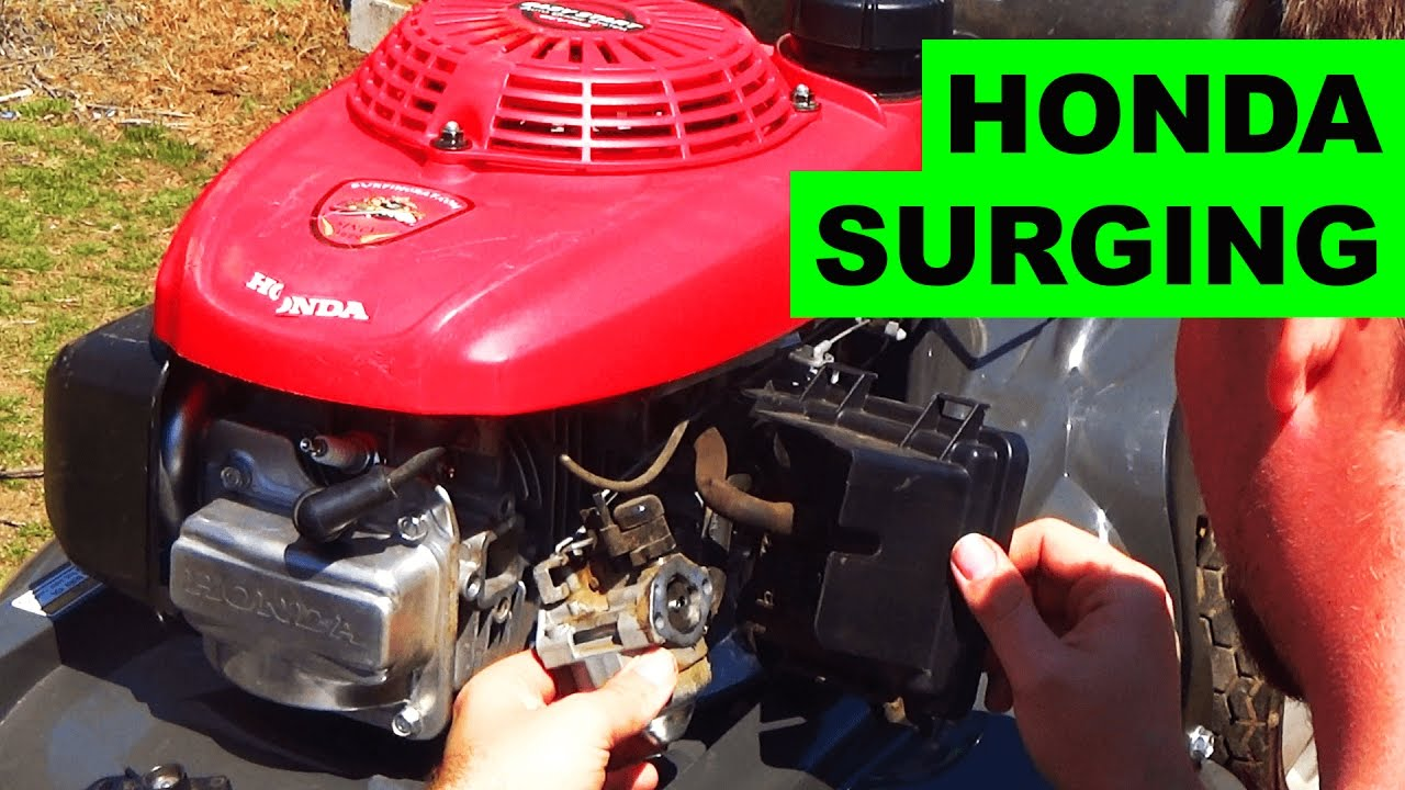 Easy Honda HRX Lawn Mower Surging Fix - YouTube