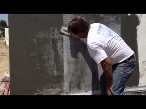 Synthetic Stucco Finish On Fox Blocks Icf Youtube