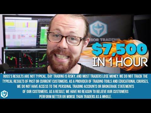 Ross' Trading Recap: +$7,500 In 1hr - Home Run Trading!