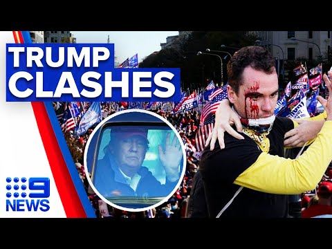 Trump supporters clash with protesters on election result   9 News Australia