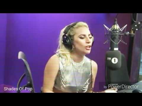 Lady Gaga sings the last part of Perfect Illusion At BBC Radio 1
