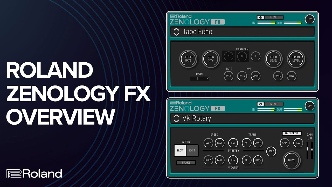 Introducing Roland ZENOLOGY FX: Authentic Roland effects for your DAW