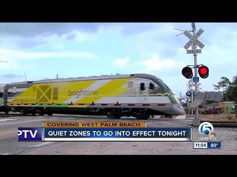 Quiet zone take effect Monday night in West Palm Beach