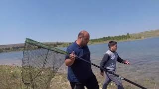 Рыбалка в Крыму 22.04.2018.Шок!!! Рыба есть !!!Ловим толстолоба сачком!!!