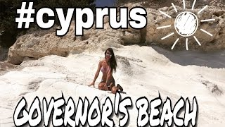 Губернаторский пляж Лимассол/Кипр. Место для фотосессий/свадебных церемоний. Пляж белых камней.