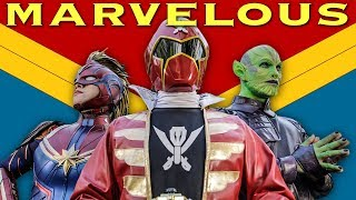 Marvelous - feat. CAPTAIN MARVEL [FAN FILM] Power Rangers | Marvel