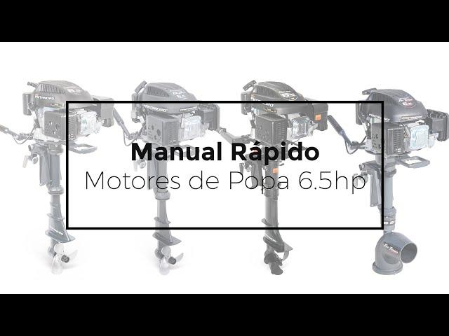 154 - MANUAL RÁPIDO // MOTOR DE POPA 6.5HP