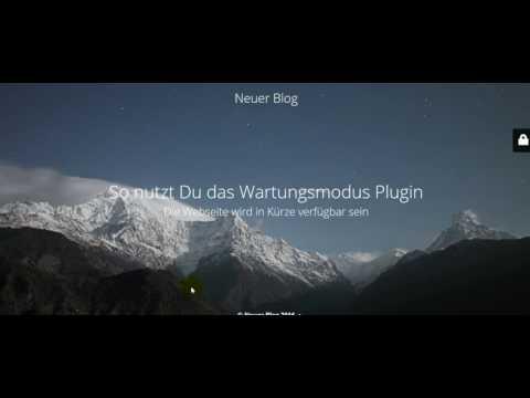 WordPress Wartungsmodus Plugin: Anleitung deutsch