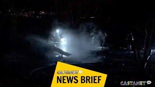 Cabin burns in suspicious fire
