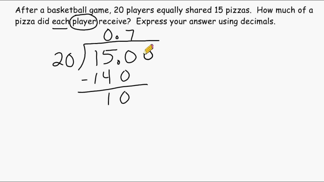 Division Dividing A Smaller Number By A Larger Number Youtube